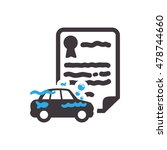 car water insurance seal stamp... | Shutterstock .eps vector #478744660