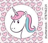 unicorn hearts horse horn... | Shutterstock .eps vector #478746214