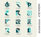 logo letter r. element and... | Shutterstock .eps vector #478749094
