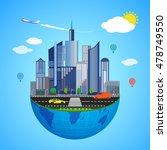 urban earth concept. vector... | Shutterstock .eps vector #478749550