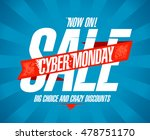 cyber monday sale design  red... | Shutterstock .eps vector #478751170