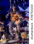 Small photo of GENOVA, ITALY - MAY 4, 2016: Juggernaut, X men, International cinema museum in Genova, Italy. Museum with collections about the popular Hollywood movies.
