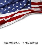 closeup of american flag on... | Shutterstock . vector #478753693
