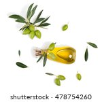 top view of branch with green... | Shutterstock . vector #478754260