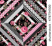 seamless floral patchwork... | Shutterstock .eps vector #478754500