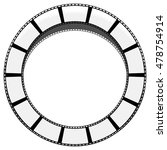 circle filmstrip isolated with... | Shutterstock .eps vector #478754914