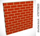 wall in perspective. brickwall... | Shutterstock .eps vector #478755820