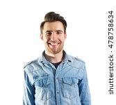 portrait of handsome young man...   Shutterstock . vector #478758634