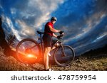 mountain bicycle rider on the... | Shutterstock . vector #478759954