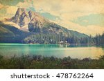 emerald lake and rocky... | Shutterstock . vector #478762264