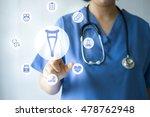 medicine doctor   nurse working ... | Shutterstock . vector #478762948