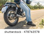 young man sitting on his... | Shutterstock . vector #478763578