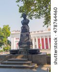 Small photo of Odessa, Ukraine - August 28, 2015: Monument to the unknown poet Alexander Pushkin in