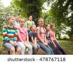 group of children  on a park... | Shutterstock . vector #478767118