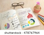 business book with write... | Shutterstock . vector #478767964
