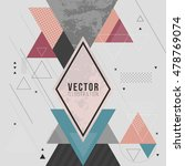 abstract minimal geometric... | Shutterstock .eps vector #478769074