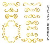 set of gold abstract curly... | Shutterstock .eps vector #478769104