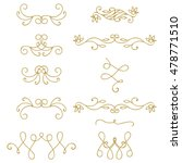 set of gold abstract curly... | Shutterstock .eps vector #478771510