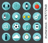 set of sport icons in flat... | Shutterstock .eps vector #478772968