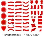 ribbon vector icon red color on ... | Shutterstock .eps vector #478774264