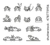 car crash and accidents icons... | Shutterstock .eps vector #478775956