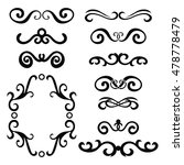set of black abstract curly... | Shutterstock .eps vector #478778479