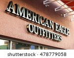 Small photo of LAS VEGAS, NEVADA - August 22nd, 2016: American Eagle Logo On Store Front Sign.