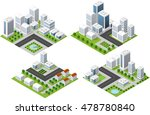 set 3d isometric three... | Shutterstock .eps vector #478780840