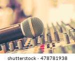 microphone in soft focus... | Shutterstock . vector #478781938