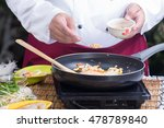 chef putting crushed peanut to...   Shutterstock . vector #478789840