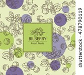background with bilberry . hand ... | Shutterstock .eps vector #478790119