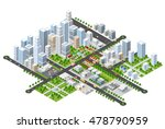 megapolis 3d isometric three... | Shutterstock .eps vector #478790959
