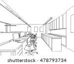 interior outline sketch drawing ... | Shutterstock .eps vector #478793734