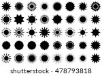 Sun Vector Burst Icon Set Sol...