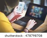 website network online... | Shutterstock . vector #478798708