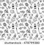 cartoon sport equipment... | Shutterstock . vector #478799380