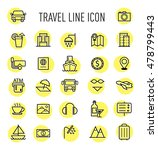 set of travel line icon... | Shutterstock . vector #478799443