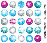 collection of abstract vector... | Shutterstock .eps vector #478802698