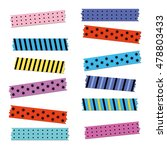 vector colored strips of... | Shutterstock .eps vector #478803433