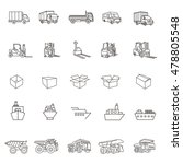 transport icons  cars  ships ... | Shutterstock .eps vector #478805548