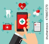 mobile medical service concept. ... | Shutterstock .eps vector #478807270