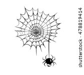 cute spider and webs over white ... | Shutterstock .eps vector #478819414