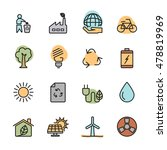 color flat ecology energy icon... | Shutterstock .eps vector #478819969