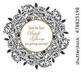 vintage delicate invitation... | Shutterstock . vector #478825198