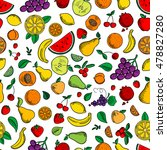 fruits and berries seamless... | Shutterstock .eps vector #478827280