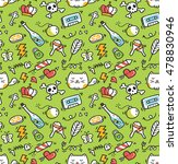 cute doodle seamless background | Shutterstock . vector #478830946