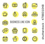 set of business line icon...
