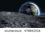 Moon Surface. The Space View O...