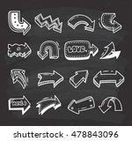 set of arrow doodle on... | Shutterstock . vector #478843096