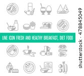 vector line icon fresh and... | Shutterstock .eps vector #478845049